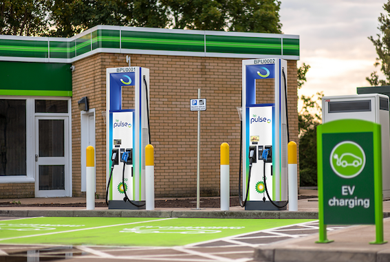 bp pulse electric car charing station