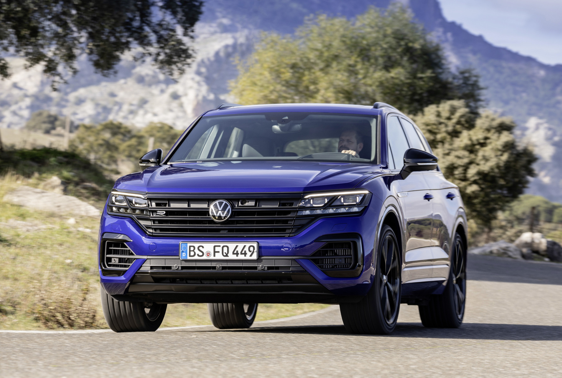 Volkswagen VW's first electrified R electric car model in blue