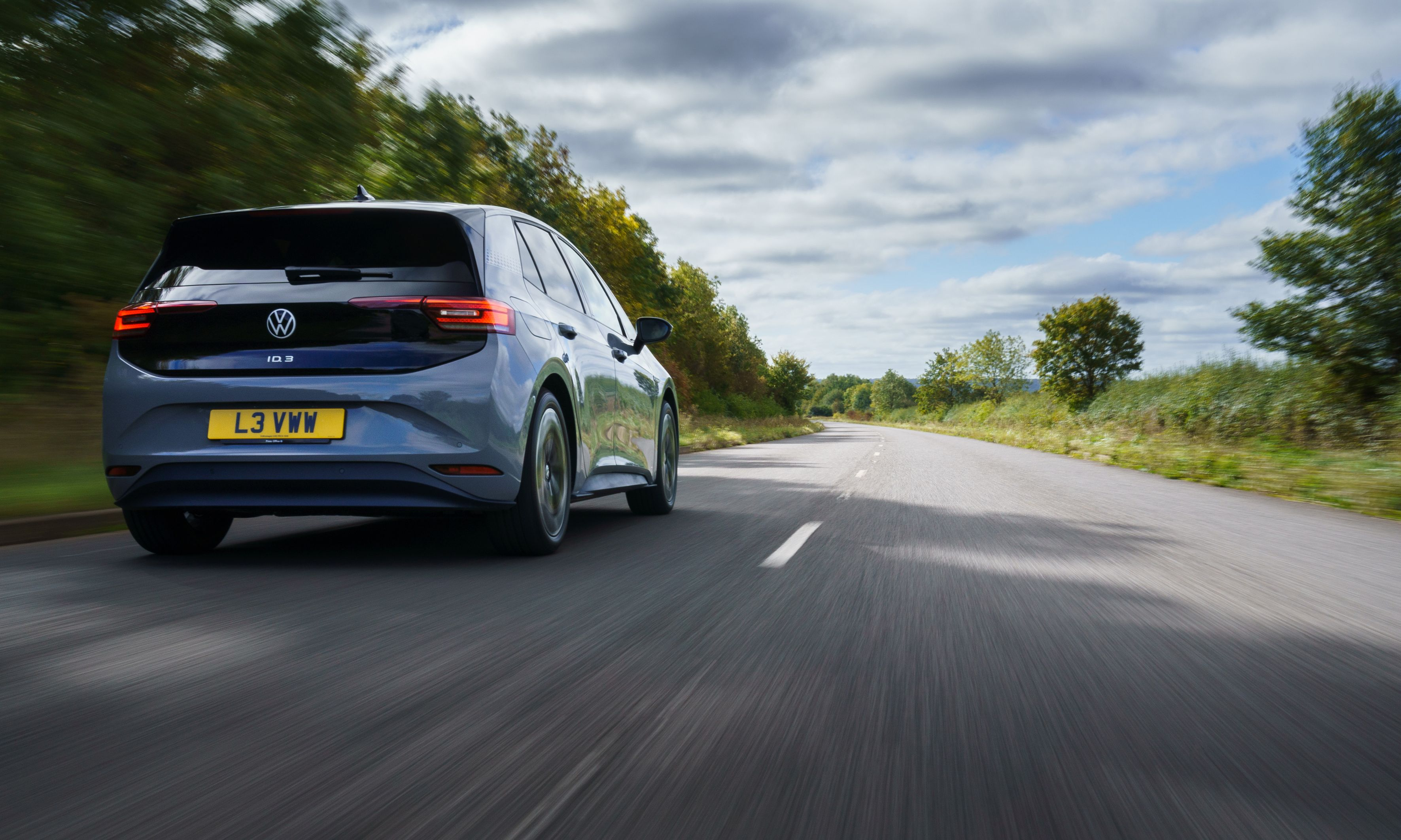 Volkswagen VW ID.3 electric car on the road