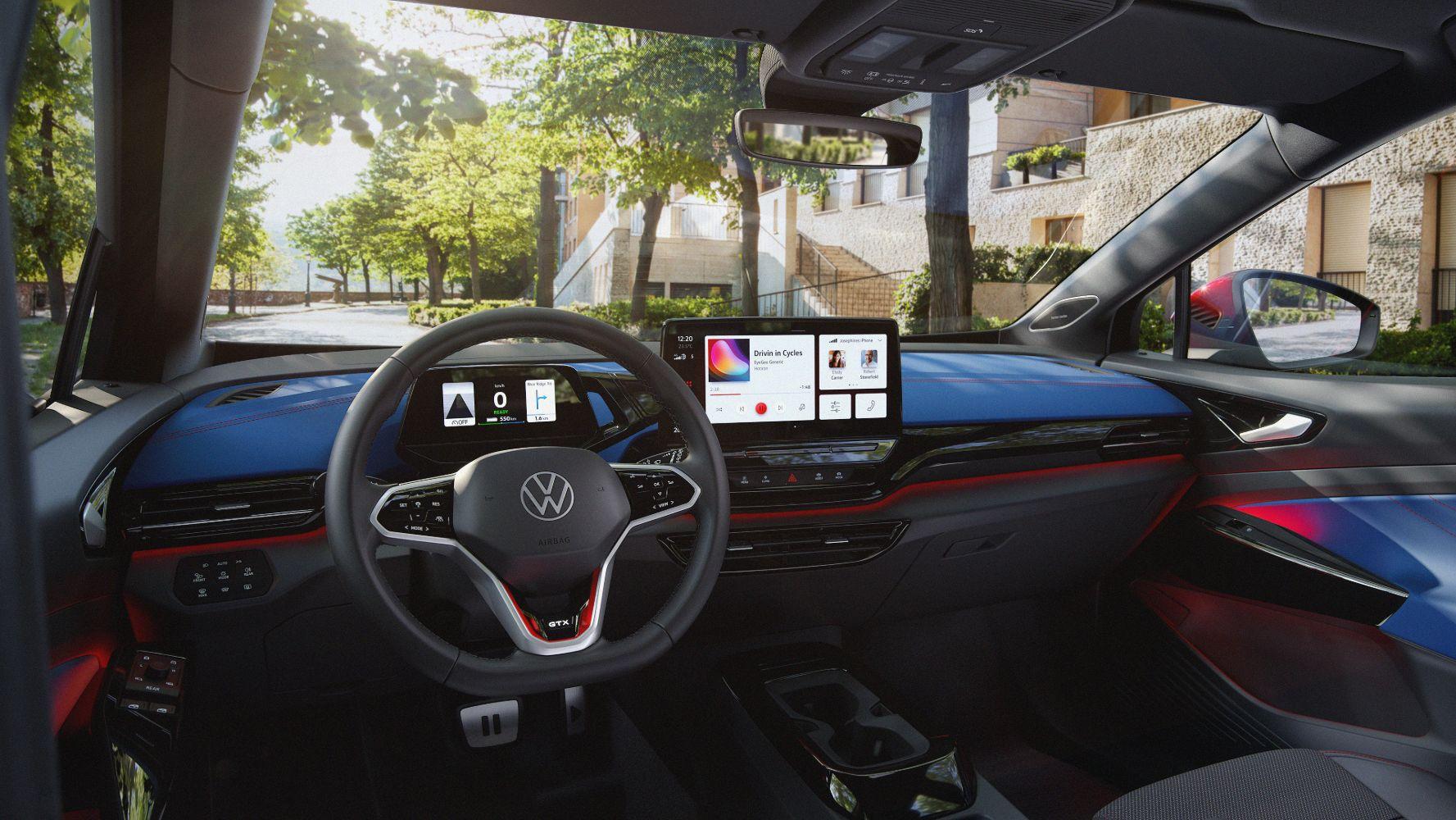 Volkswagen electric VW ID.4 GTX electric car interior dashboard