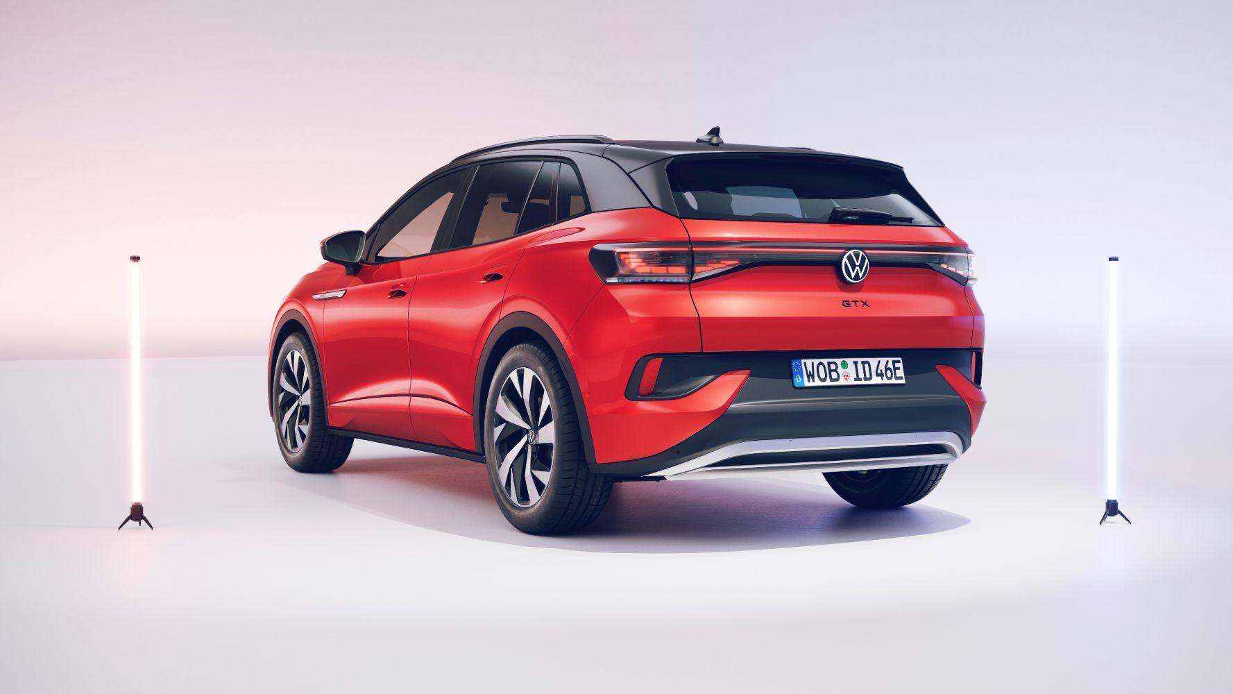 Volkswagen electric VW ID.4 GTX electric car rear